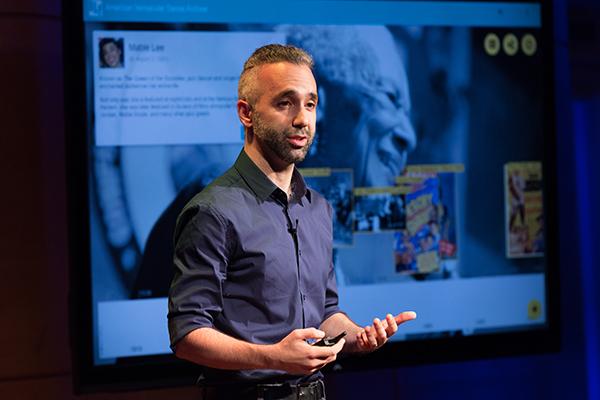 Andrew Nemr speaks at TED Resident's Salon, July 12, 2016, New York, NY. Photo: Ryan Lash / TED